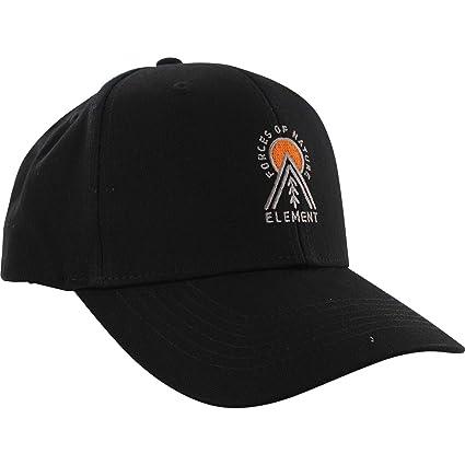 88fc3af716e Amazon.com  Element Skateboards Camp II Flint Black Snapback Hat -  Adjustable  Sports   Outdoors