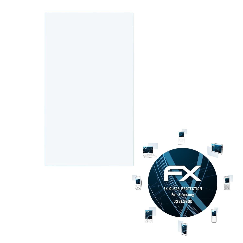 atFoliX Lá mina Protectora de Pantalla para Samsung U28E590D Pelí cula Protectora - FX-Clear Ultra Transparente Protector Pelí cula FX-Clear@FoliX 4061186000112