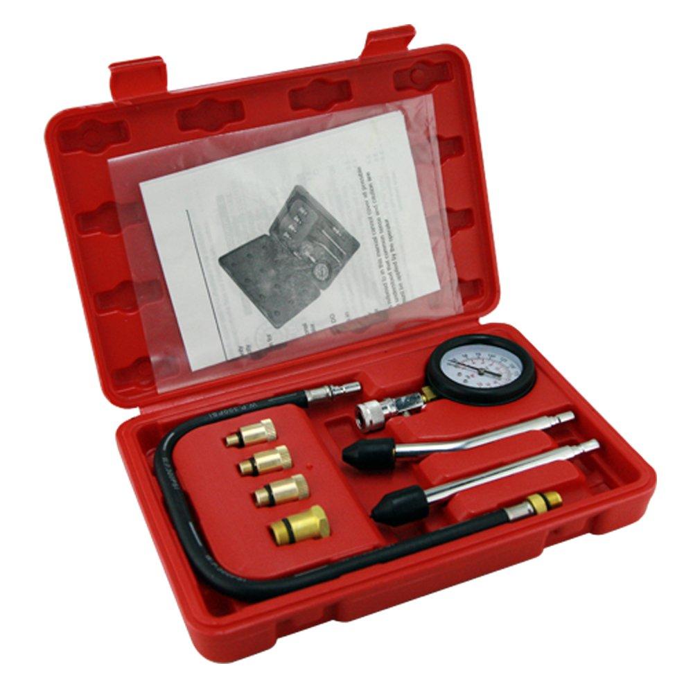 Cylinder Compression Tester Kit Professional Mechanics Gas Engine Motor
