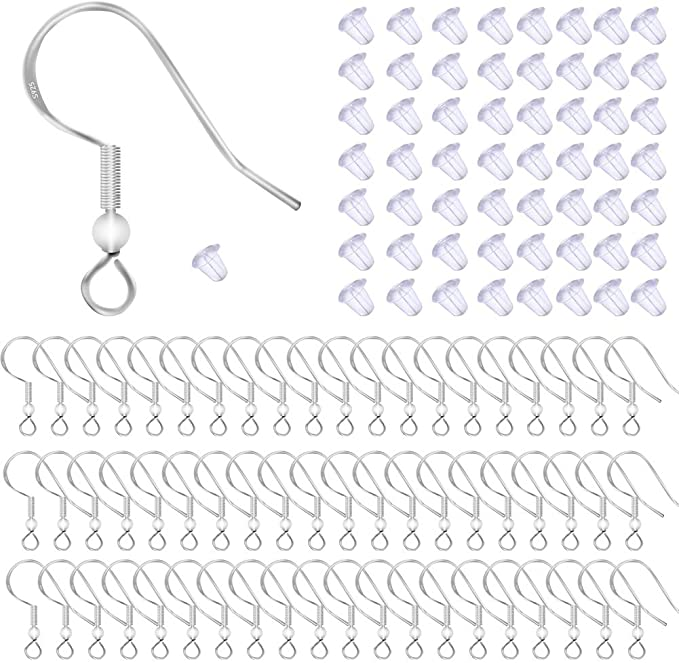 """2.1//8/"""" 925 Sterling Silver Long Plain Stick Earrings on Hook Overall Lgth 55mm"""