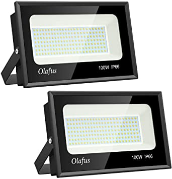 Olafus 2 Pack 100W Focos LED Exterior, IP66 Impermeable 11000LM ...