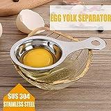 iHEBE Egg Separator, Egg Yolk White Filter 304 Stainless Steel Egg Divider Sieve Baker Tool/Kitchen Gadget Cooking
