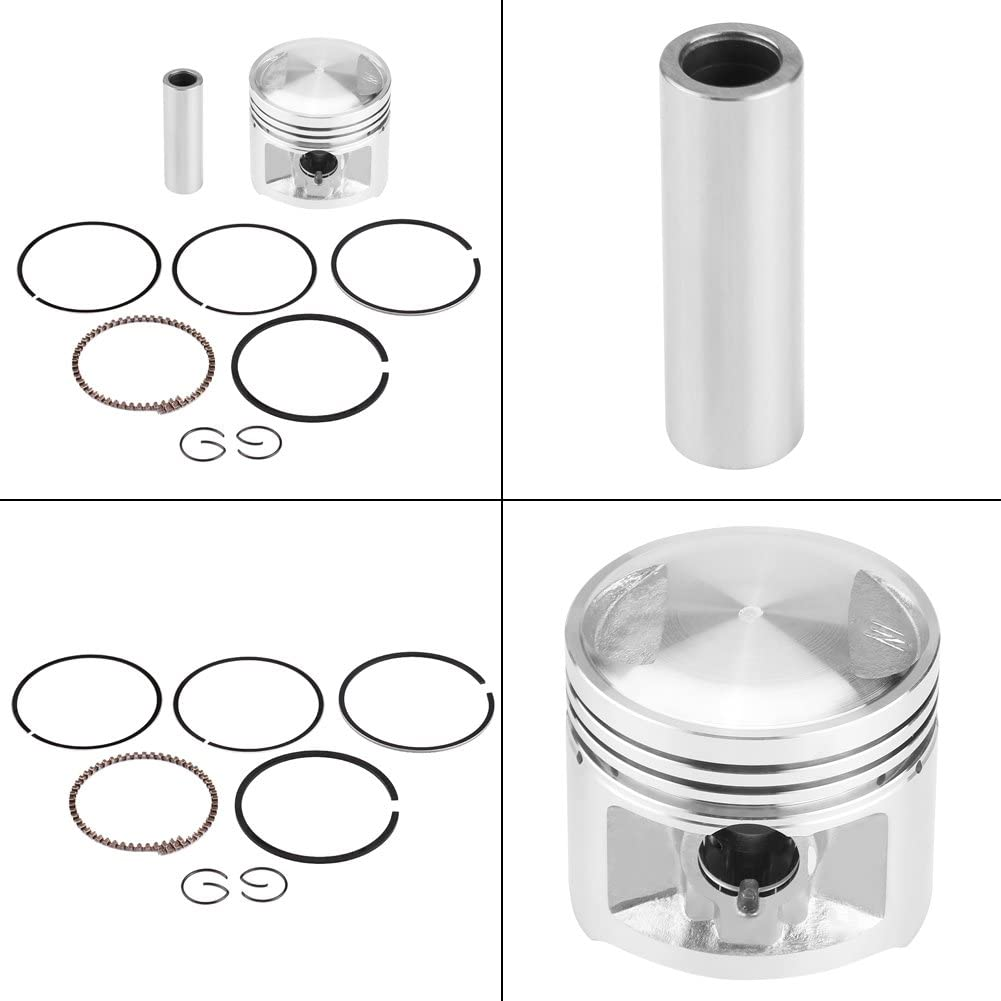 Keenso Piston Assembly Kit 56mm with Piston Rings Piston Pin Piston Clips for CG 125cc ATV Dirt Bike Go Kart Moped Motorcycle
