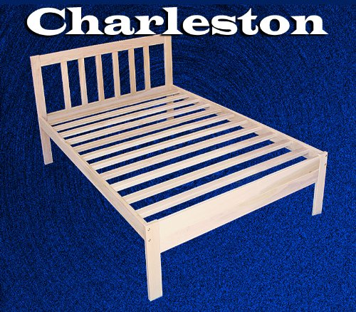 Twin Size Charleston Platform Bed Frame - Solid Hardwood