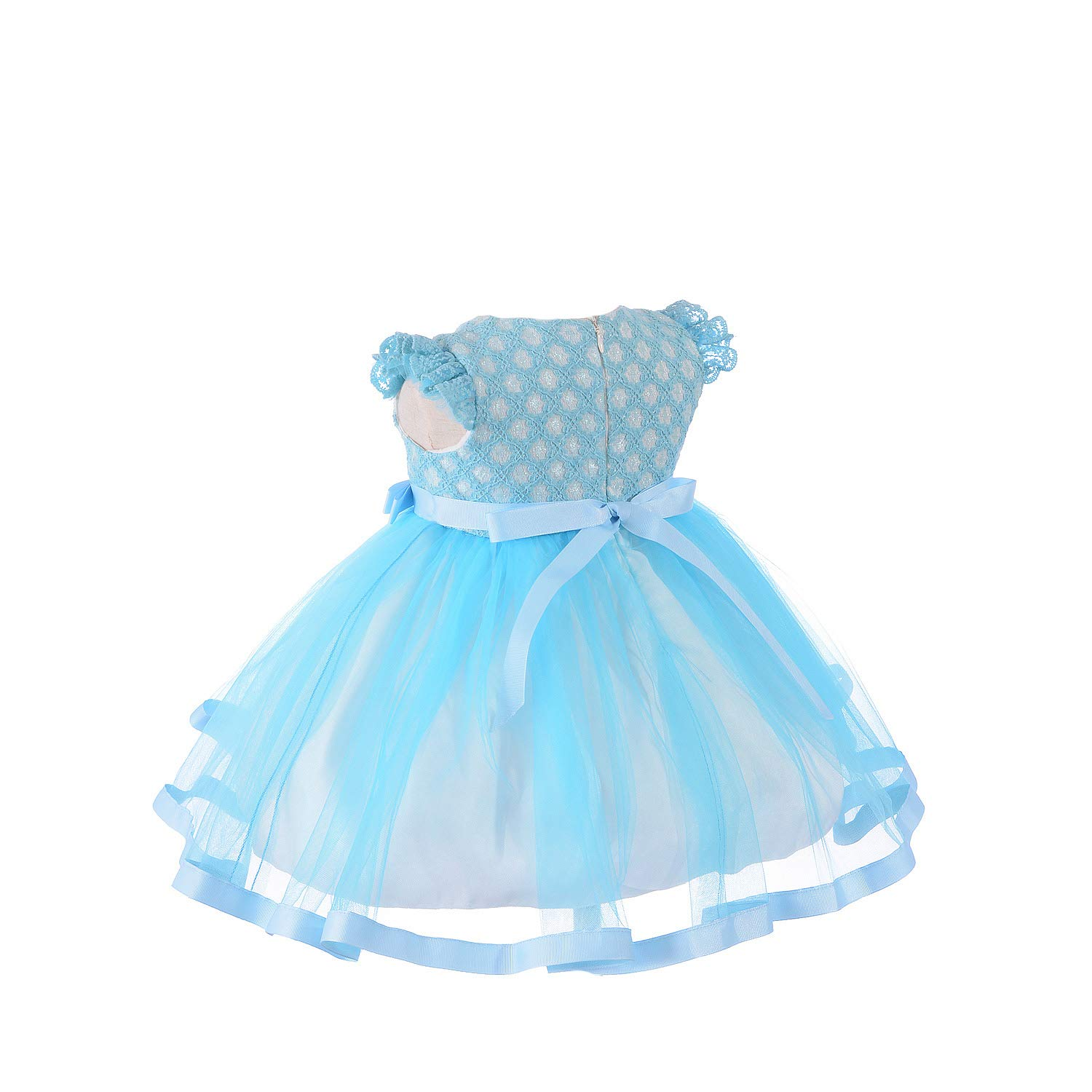 Cinda Baby Girls Party Dress with Bonnet
