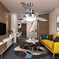 Luxurefan Simple Modern Ceiling Fan Light Durable Decoration for Modern Home Restaurant and 5 Premium Plastic Leaves and Elegant Frosted Shade Remote Mute Chandelier of 52Inch