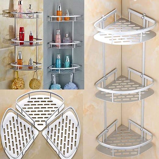 US Stock Shower Shelf Corner Organizer Bathroom Bath Kitchen Storage Rack Holder