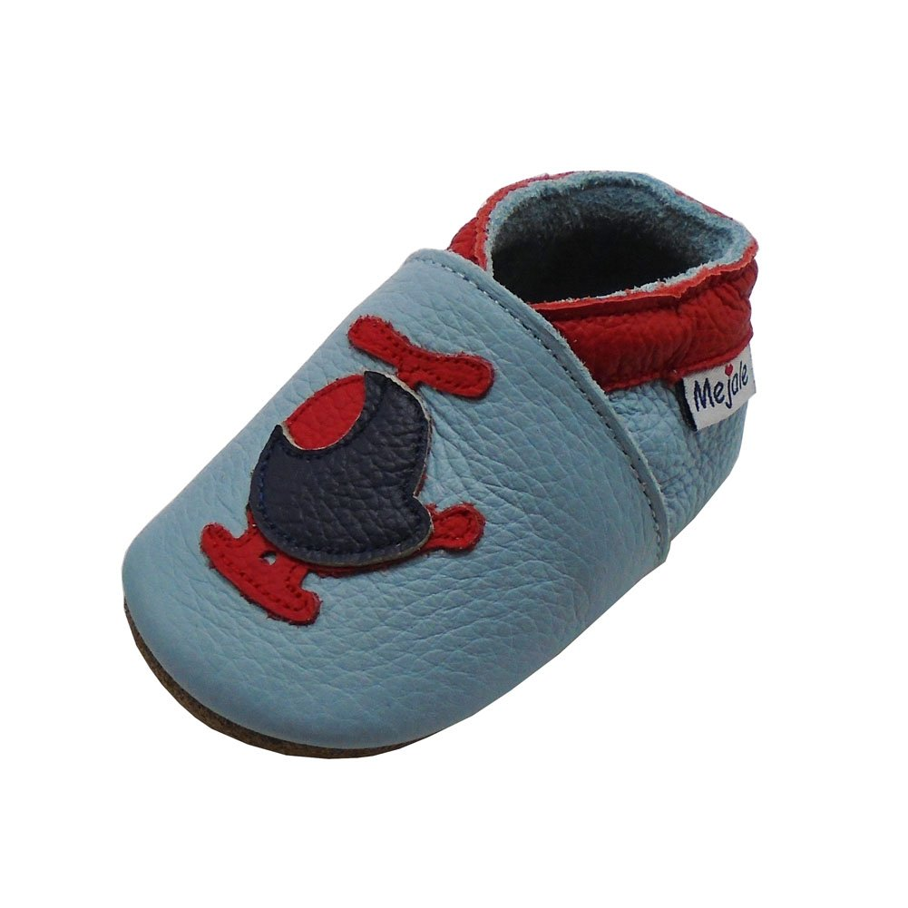 Mejale Cartoon Soft Sole Leather Baby Crib Shoes Infant Toddler Prewalkers 0-3 Years