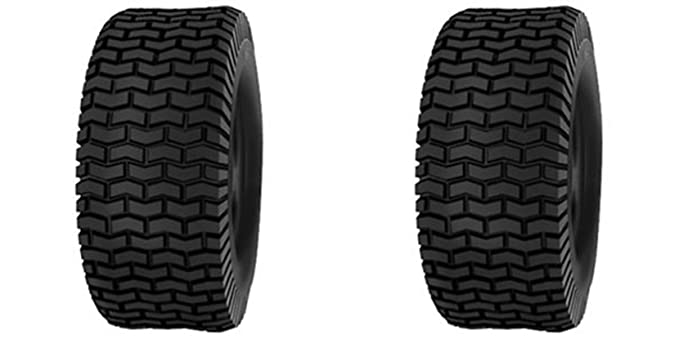 13x5.00-6 13x5.00x6 Deestone 4 Ply Rated Tubeless Turf Tires (SET OF 2)