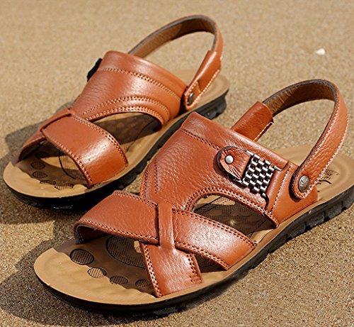 Braun Hombre De Vestir Matchlife Sintético gelb Material Sandalias Style3 Para wzaxxPY5q