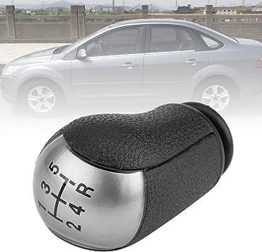 Qiilu Pomo para Palanca de Cambios Perilla del cambio 5 Velocidades para Focus,/MK3,/S-MAX,/for C-MAX,/Mustang,Galaxy,Fiesta,Transit