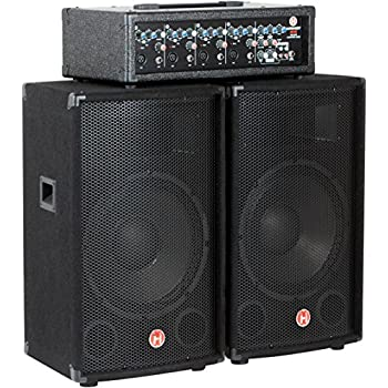 Amazon Com Harbinger M120 120 Watt 4 Channel Compact