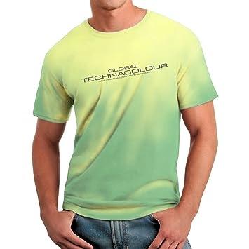 efd1350c1 Global Technacolour Hypercolour Colour Change Logo T Shirt - Green Into  Yellow - Medium (Chest 40-42