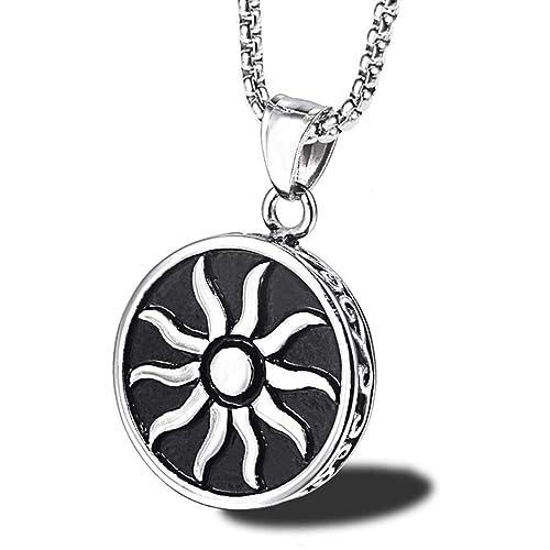 Amazon.com: JEWURA Collar Vintage – Illuminati Sun – Joyería ...