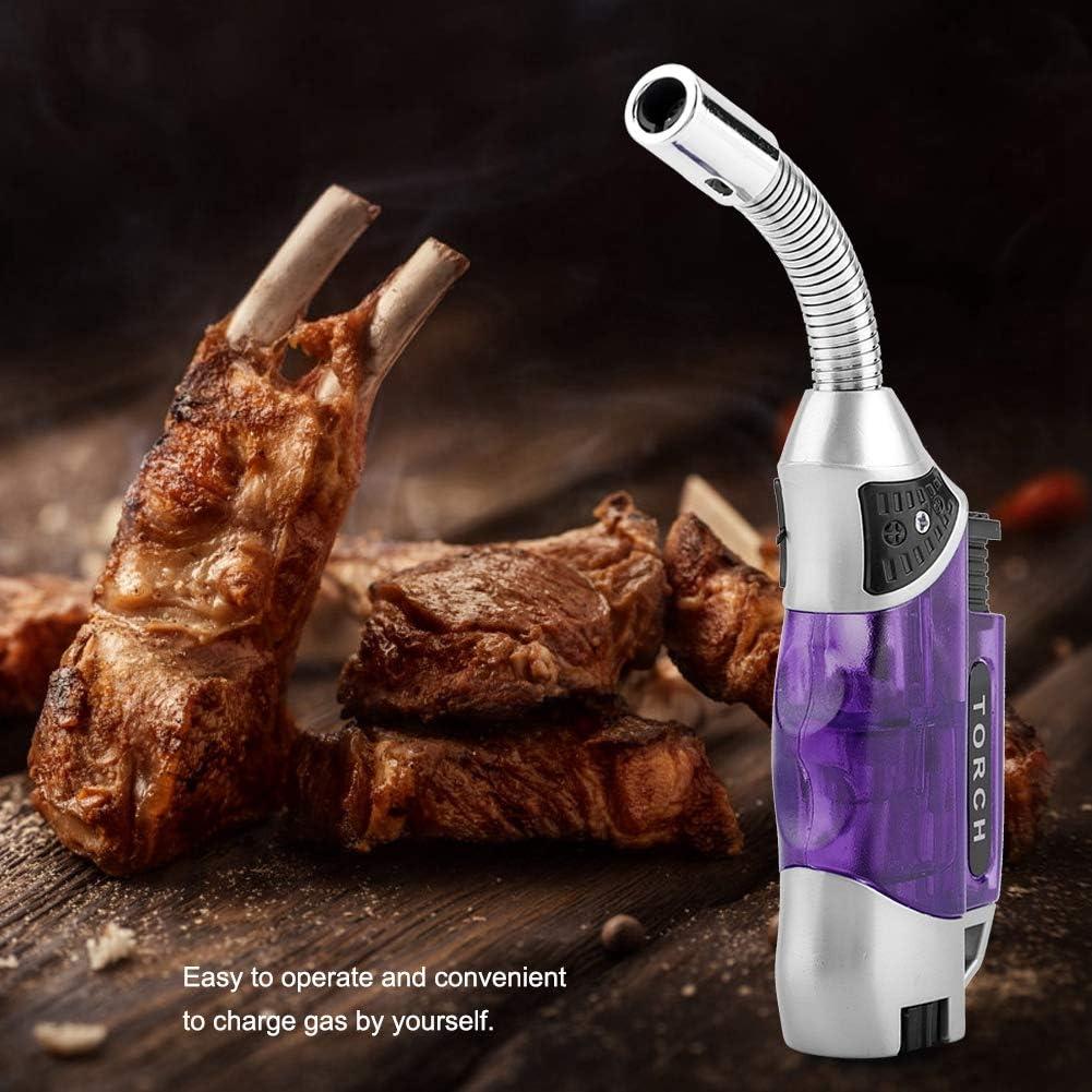 Boquite Gasfeuerzeug einstellbare elektrische Winddichte BBQ Herd Herd Z/ünder Blau