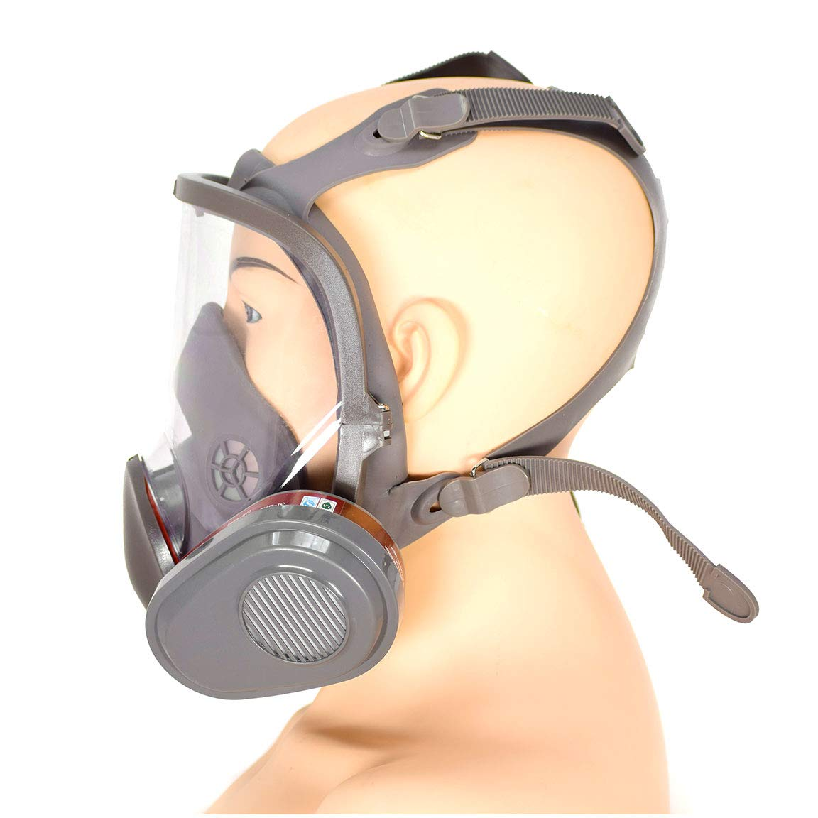 PD-600 Full Face N95 Respirator – ASTM Certified – Double N95 Activated Charcoal Air filter – Industrial Grade Quality by Parcil Distribution (Image #4)