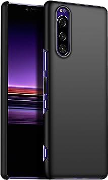 1SourceTek Compatible para Funda Sony Xperia 2 Estuche Protector para Celular Delgado Minimalista Protector Anti-Rasguño de Alta Calidad para Sony Xperia 2(Negra Liso): Amazon.es: Belleza