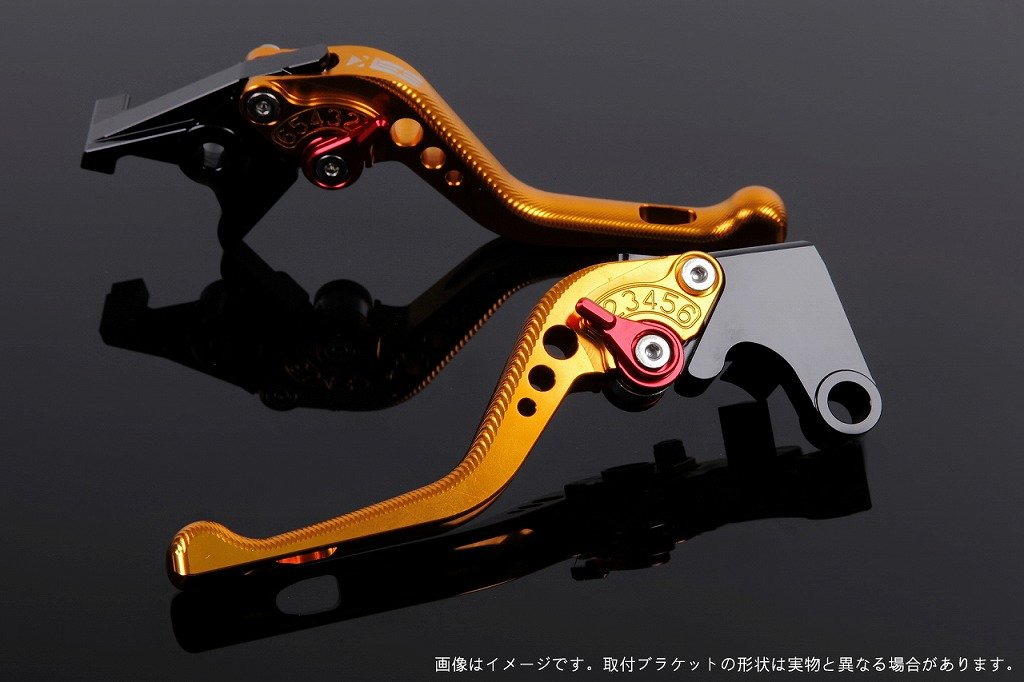 SSK アジャストレバー 3Dショート レバー本体カラー:ゴールド アジャスターカラー:レッド CRF1000L Africa Twin LVFG017GD-RD B07MXD88M3