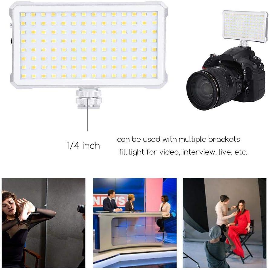 Interview for Video Live Mugast 112 LED Video Light 3200-5600K Portable Camera Photo Light Panel with Adjustable Brightness 5/%-100/% CRI 96 etc.