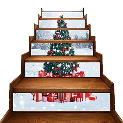 LEYIJU 3D Style De Noël Autocollants D\'escalier Set Amovible ...