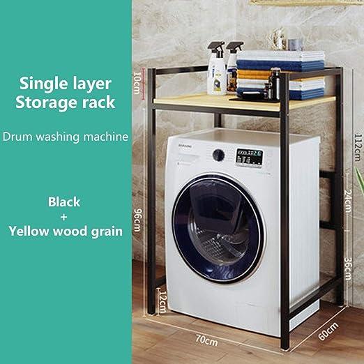 Rack de almacenamiento de 1 capa sobre lavadora - Repisa de baño ...
