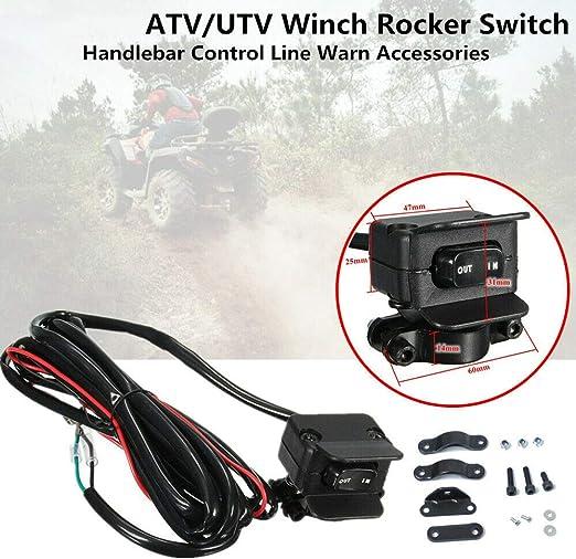 Iycorish Moto ATV//UTV Treuil Interrupteur /à Bascule Guidon Ligne de Contr?Le du Treuil /éLectrique Accessoires