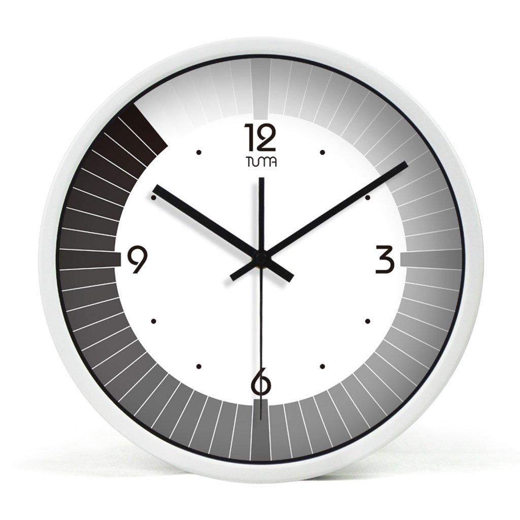 ホーム&時計 10/12/14インチサイレントノンティッキングウォールクロック/メタルフレーム ( 色 : A , サイズ さいず : 30センチメートル ) B07C9FW6L4A 30センチメートル