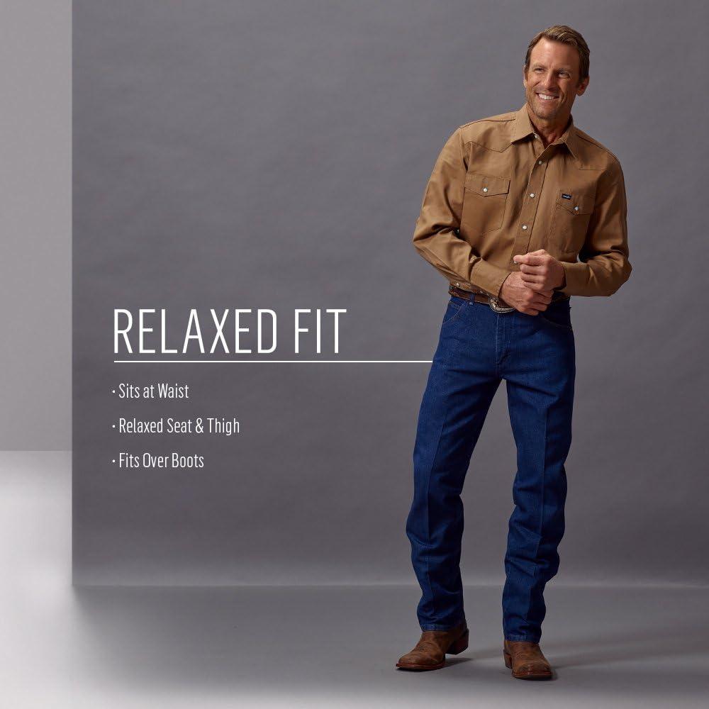 Wrangler Men's Original Cowboy-Cut Relaxed-Fit Jean Shadow Black