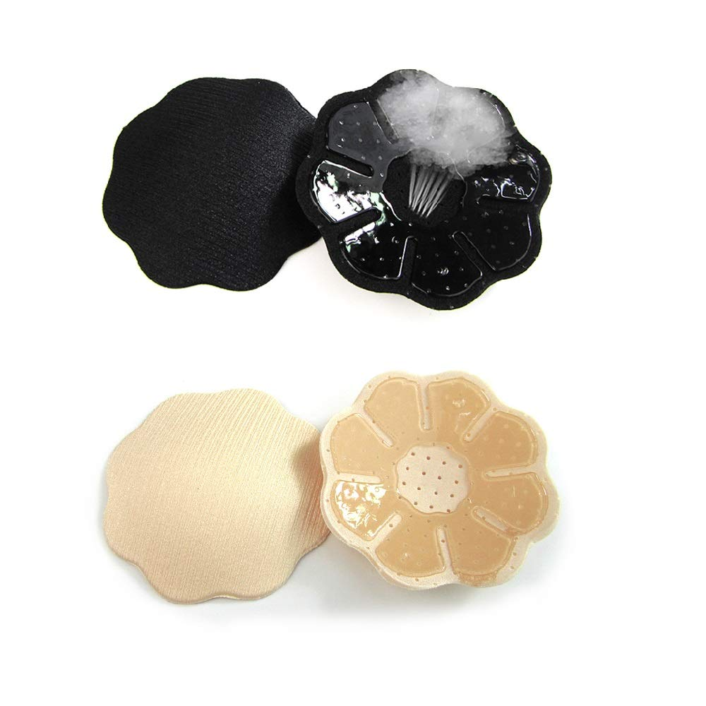 Imixshopcs Pack of 2 Womens Skin Reusable Silicone Nipple Covers Thin Past