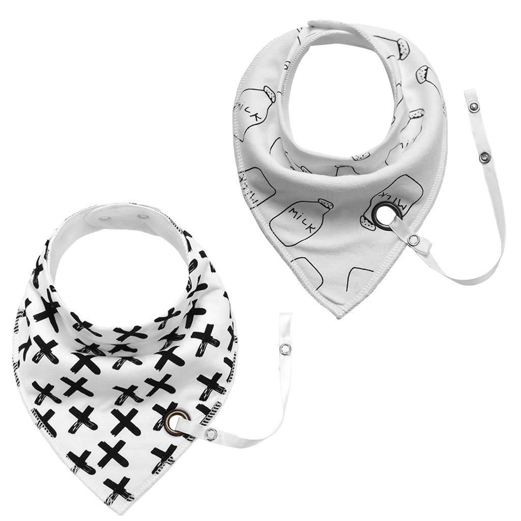 Baby Bib Dummy Chain Triangle Saliva Towel Cotton Newborn Bandana Accessories