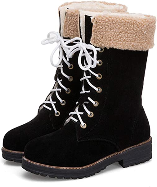 8a93c8bab0a Amazon.com | Aarring boot Winter Snow Boots 2018 New Solid Color ...