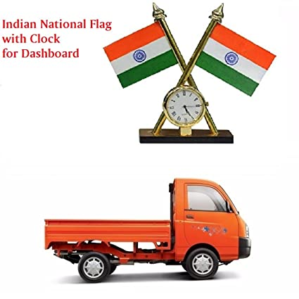 Motrox Dashboard Indian Flag With Clock For Mahindra Maximo Plus