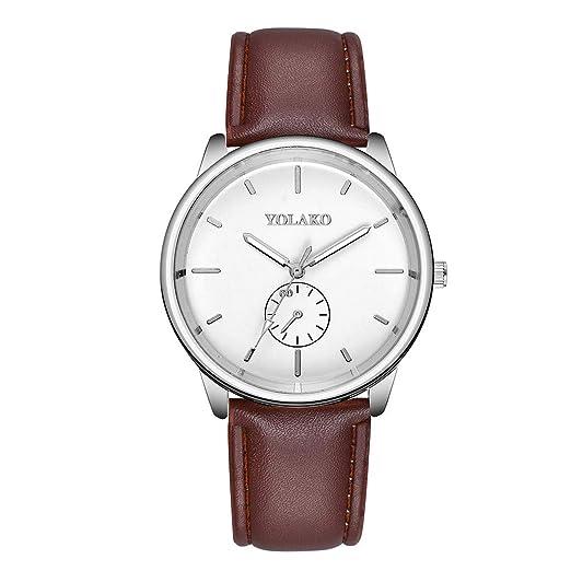 Worsworthy Cinturón de Hombre, Reloj Simple, cómodo y Hermoso, económico (A)