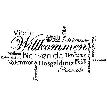 Wandkings Wandtattoo Willkommen In Verschiedenen Sprachen 120 X