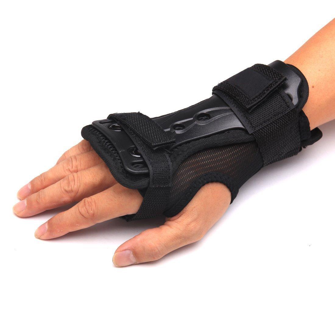 Andux Ski Gloves Extended Wrist Palms Protection Roller Skating Hard Gauntlets Adjustable Skateboard Gauntlets Support HXHW-01 (L) by Andux