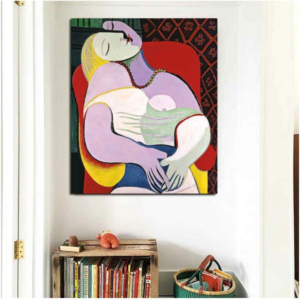 YCCYI Cuadro en Lienzo Arte de la Pared Pintor Famoso Mujer Abstracta Cuadros Carteles de Pared Arte de la Pintura Moderna Pasillo Decoración de la Sala de Estar 12x16 Pulgadas (30x40 cm) Sin Marco