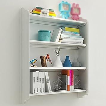HWF Kinder Einfache Bücherregal Regal Trennwand Wohnzimmer Multilayer Buch  Lernen Schlafzimmer Wand Rack Weiß