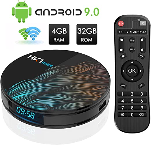 Android TV Box, HK1 MAX RK3318 Quad-Core Android 9.0 TV Box 4GB ...