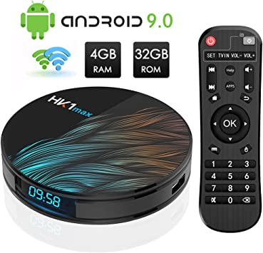 Android TV Box, HK1 MAX RK3318 Quad-Core Android 9.0 TV Box 4GB RAM/32GB ROM Soporte 2.4Ghz/5.0 GHz WiFi Bluetooth 4.0, 4K HDMI DLNA 3D Smart TV Box: Amazon.es: Electrónica