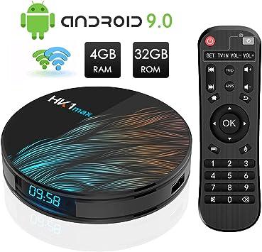 Android TV Box, HK1 MAX RK3318 Quad-Core Android 9.0 TV Box 4GB ...