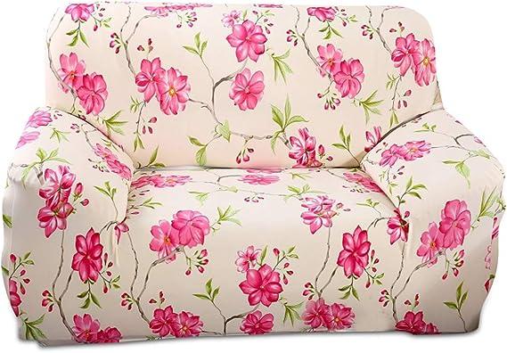 Fashion·LIFE Fundas de sofá Life 1 Plaza Funda de Sofá Elástica Lujo Cubre para Silla o Sillón en Tejido Elástico Estampado,Rosado