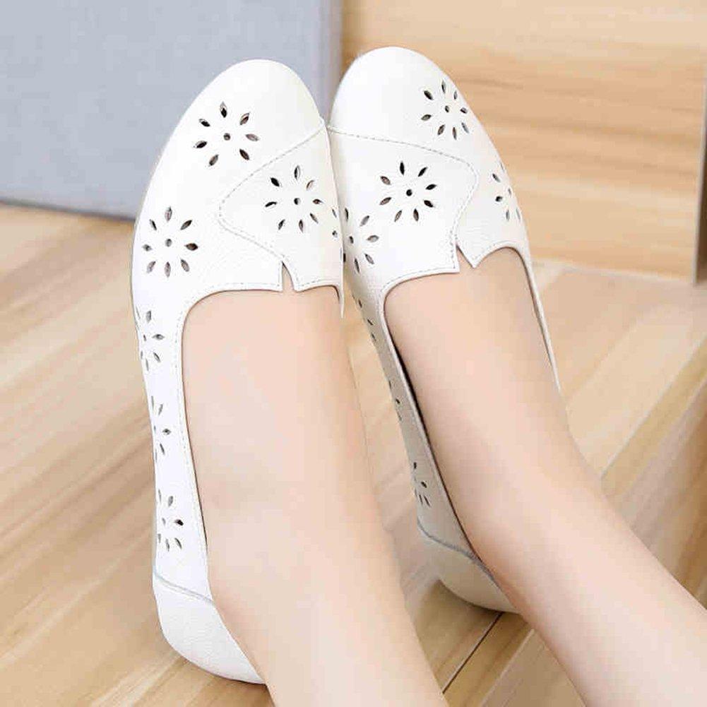 QIDI Freizeitschuhe Frau Weiß Modisch Modisch Modisch Hollow Atmungsaktiv Einzelne Schuhe (größe   EU40 UK7) 007d56