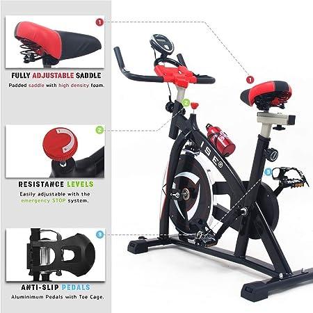 ISE 2019 - Bicicleta estática con Pantalla LCD, reposabrazos ...