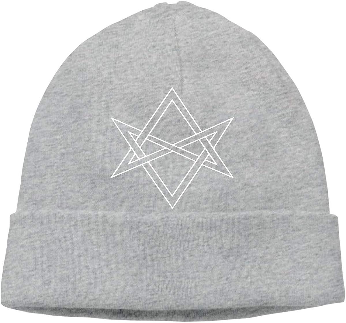 Q10 Unisex Unicursal Hexagram Soft Beanie Hat Soft Hat