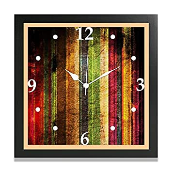 Buy Mjr Wooden Digital Print Wall Clock Wooden Texture Without Glass 9x9 Inches For Home Bedroom Living Room Kitchen Office Online At Low Prices In India Amazon In
