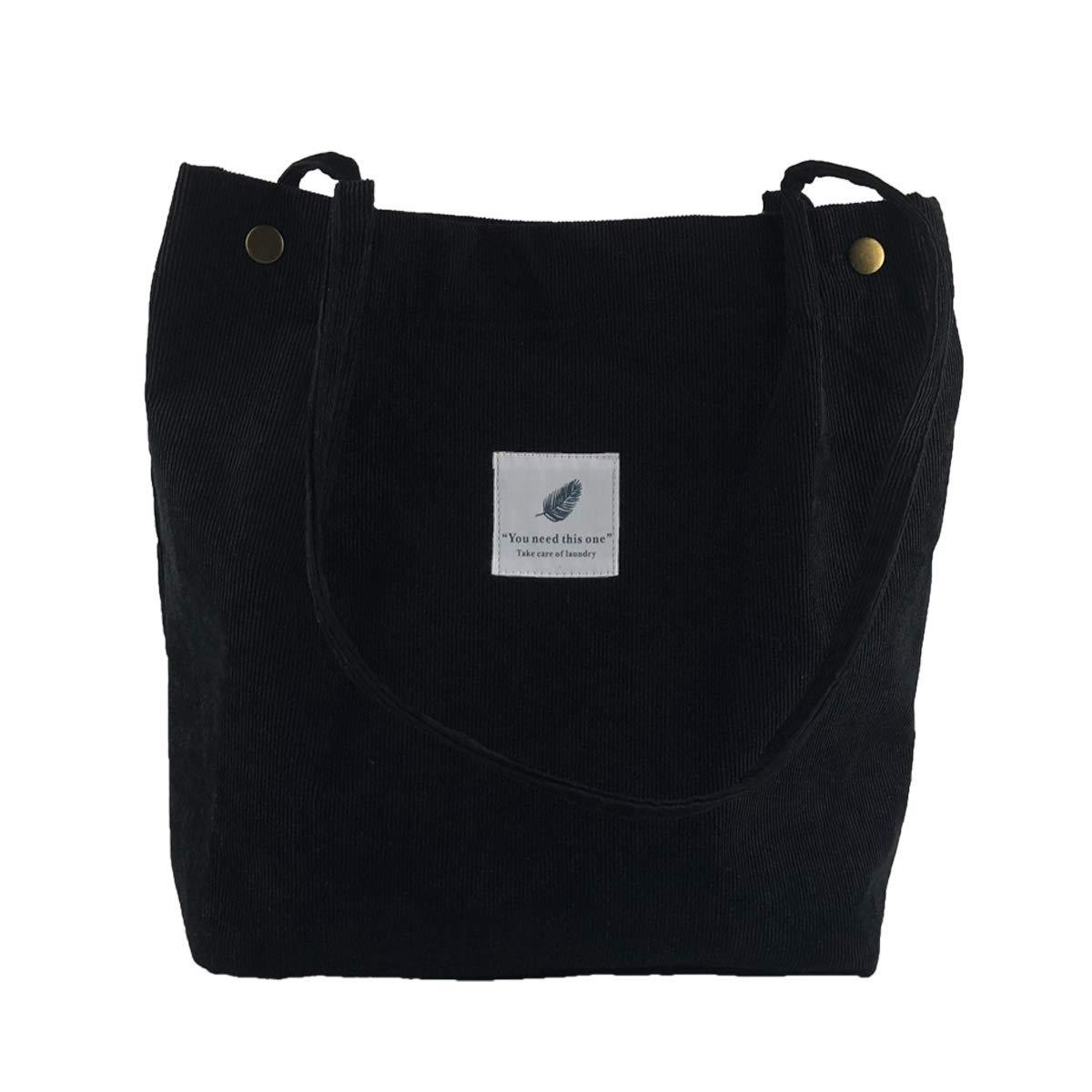 cabdb372fc57 Eflying Lion Corduroy Shoulder Bag Shopping Tote Bag Retro Casual  Handbags,Girls Bag,Ladies Shoulder Bag