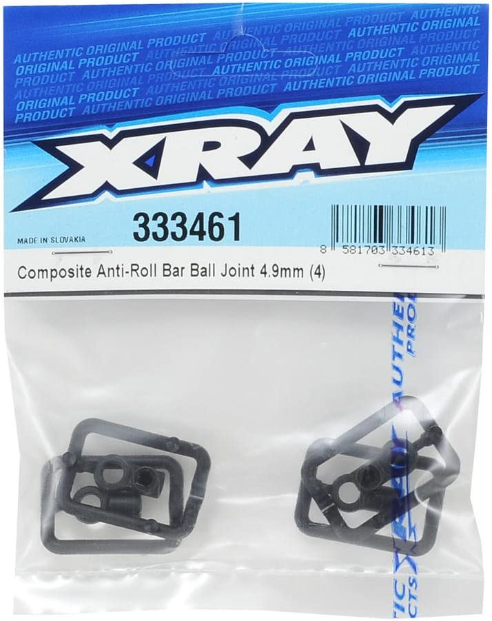 X-ray 333461 XRAY UNIBALL Barra //Composite Anti-Roll Bar Ball Joint 4.9 MM 4 - Hard V3