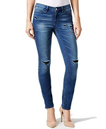 3bba336f8b3 Calvin Klein Jeans Womens Ultimate Skinny Denim Distressed Skinny Jeans -  Blue -: Amazon.co.uk: Clothing