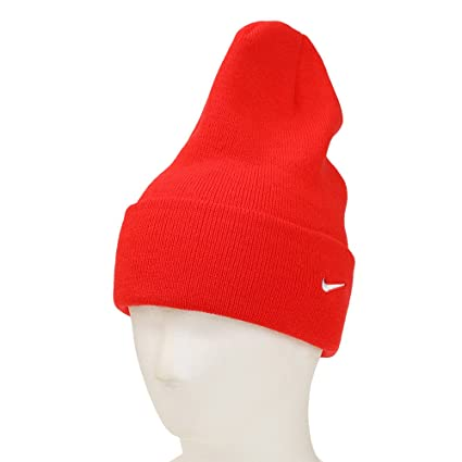 c6d02721334 Amazon.com   Nike Adult Unisex Stock Cuffed Knit Beanie (Red ...