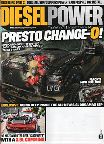 Diesel Power 2017 he World's Largest Diesel Magazine With Last Issue Cover On FORD/ALLISON/CUMMINS POWERTRAIN PREPPED FOR INSTALL Compound-Boosted 2010 F-450 Leads Our Look At Open-Minded Engine Swaps